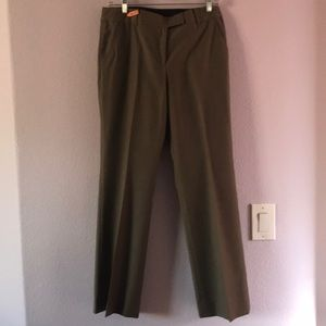Olive green Anne Klein wool pants